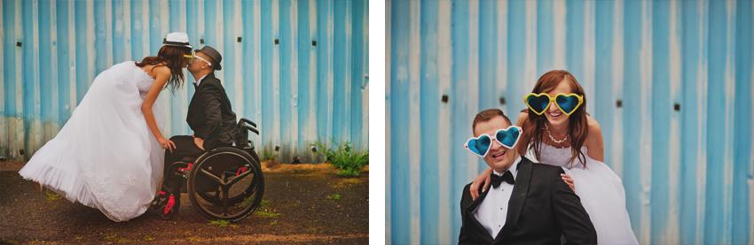 fotografia ślubna wózek inwalidzki